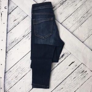 EXPRESS Mid Rise Dark Wash Jean Leggings sz 0R